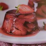 Dessert fraises bio Ferme du chaleat Aspic