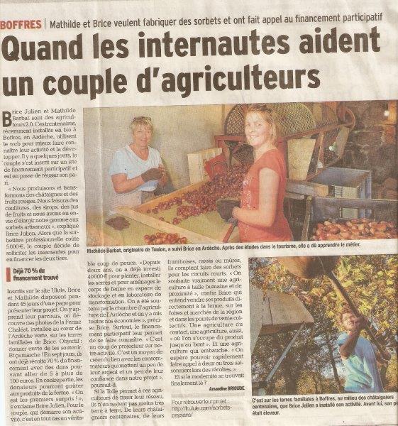 Le Dauphiné Fianancement participatif